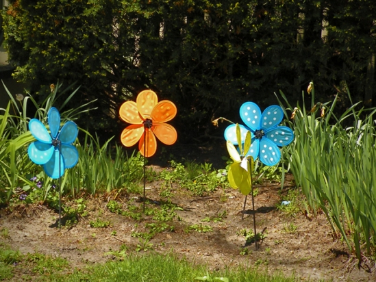 Floral Pinwheels in the Garden, the second