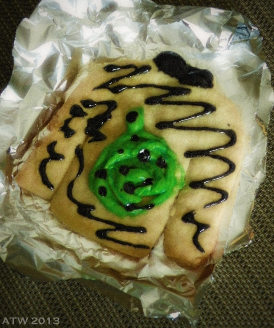 "A very untraditional ""Christmas Sweater"" cookie!"